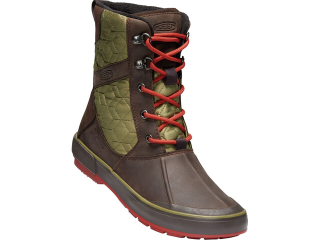 Keen Elsa II Quilted WP Chaussures Femme, mulch/martini olive
